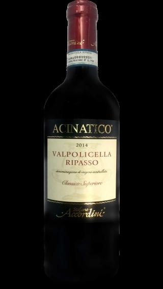 Bottle of Stefano Accordini Valpolicella Ripasso Acinatico Classico 2014 wine 750 ml