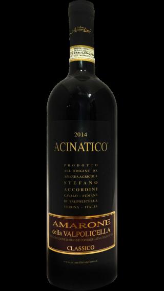 Bottle of Stefano Accordini Acinatico Amarone della Valpolicella Classico 2014 wine 750 ml