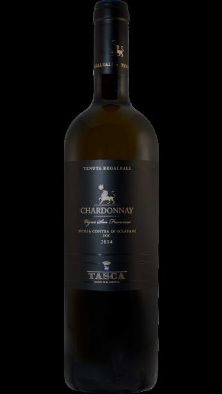 Bottle of Tasca d Almerita Tenuta Regaleali Chardonnay 2014 wine 750 ml