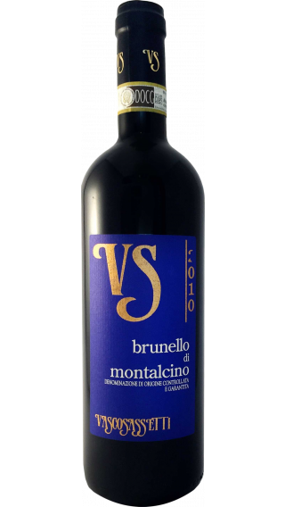Bottle of Vasco Sassetti Brunello di Montalcino 2010 wine 750 ml