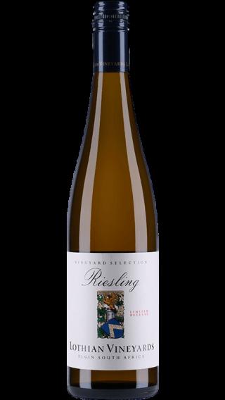 Bottle of Lothian Vineyards Riesling 2018 wine 750 ml