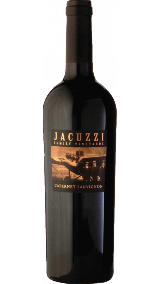 Bottle of Jacuzzi Family Vineyards Cabernet Sauvignon 2016 wine 750 ml