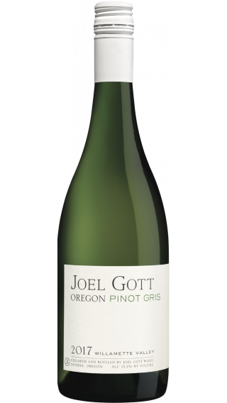 Bottle of Joel Gott Oregon Pinot Gris 2017 wine 750 ml