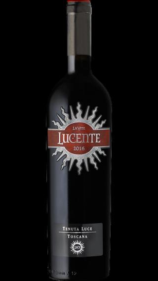 Bottle of Luce della Vitte Lucente 2016 wine 750 ml