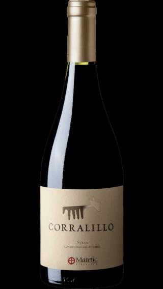 Bottle of Matetic Corralillo Syrah 2015 wine 750 ml