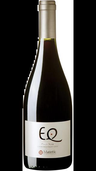 Bottle of Matetic EQ Pinot Noir 2014 wine 750 ml