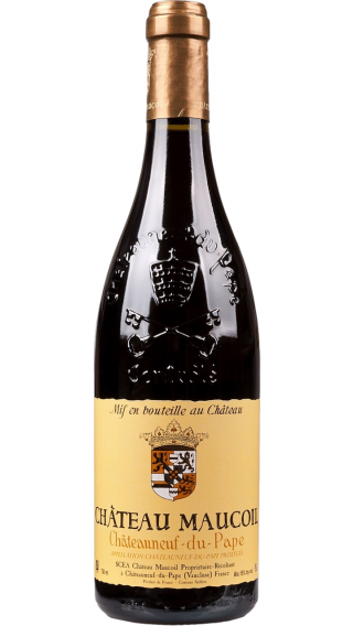 Bottle of Chateau Maucoil Chateauneuf Du Pape Tradition 2015 wine 750 ml