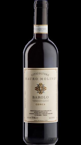 Bottle of Mauro Molino Barolo Conca 2014 wine 750 ml
