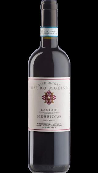 Bottle of Mauro Molino Langhe Nebbiolo 2018 wine 750 ml