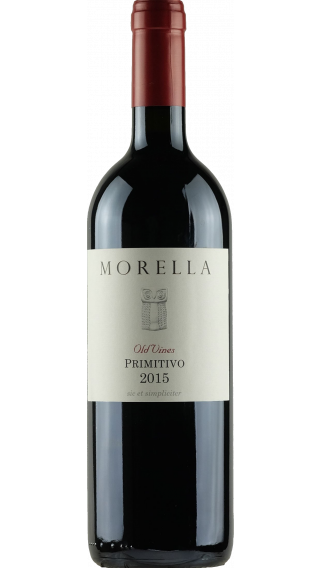 Bottle of Morella Old Vines Primitivo 2015 wine 750 ml