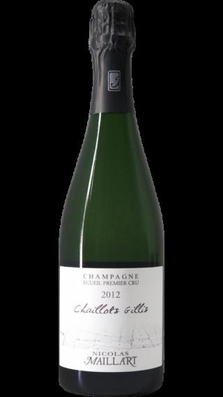 Bottle of Champagne Nicolas Maillart Les Chaillots Gillis Blanc de Blancs Premier Cru 2012 wine 750 ml