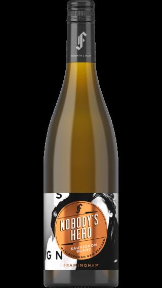 Bottle of Framingham Nobody's Hero Sauvignon Blanc 2018 wine 750 ml