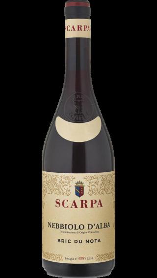 Bottle of Scarpa Bric du Nota Nebbiolo d'Alba 2017 wine 750 ml