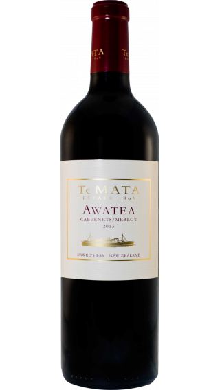 Bottle of Te Mata Awatea 2013 wine 750 ml