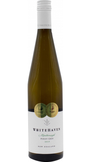 Bottle of Whitehaven Pinot Gris 2015 wine 750 ml
