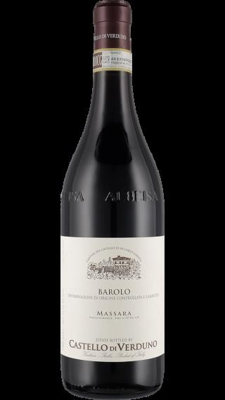 Bottle of Castello di Verduno Barolo Massara 2015 wine 750 ml