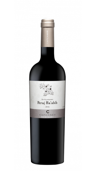 Bottle of Capcanes Peraj Ha'Abib Kosher 2017 wine 750 ml
