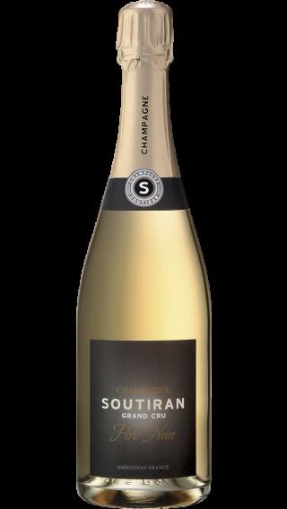 Bottle of Champagne Soutiran Perle Noire Brut Grand Cru wine 750 ml