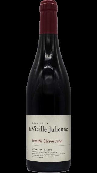 Bottle of Vieille Julienne Cotes du Rhone Clavin 2015 wine 750 ml