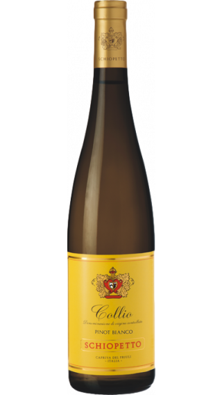 Bottle of Schiopetto Collio Pinot Bianco 2017 wine 750 ml