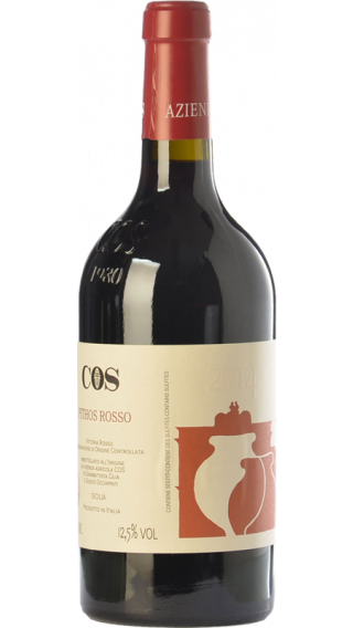 Bottle of COS Pithos Rosso 2015 wine 750 ml
