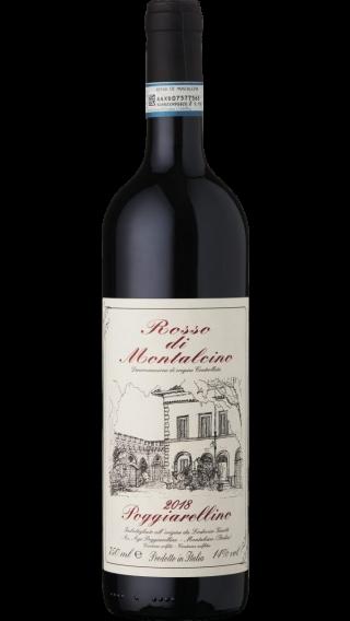 Bottle of Poggiarellino Rosso di Montalcino 2018 wine 750 ml