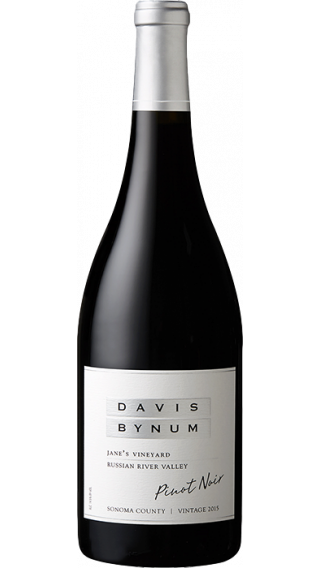 Bottle of Davis Bynum Jane's Vineyard Pinot Noir 2015 wine 750 ml