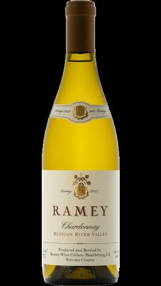 Bottle of Ramey Russian River Valley Chardonnay 2017 wine 750 ml