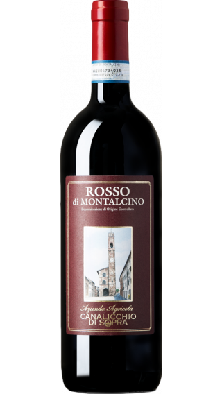 Bottle of Canalicchio di Sopra Rosso di Montalchino 2017 wine 750 ml