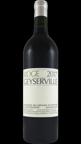 Bottle of Ridge Geyserville 2017 wine 750 ml