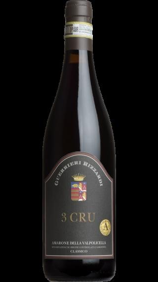 Bottle of Rizzardi 3 Cru Amarone Valpolicella 2013 wine 750 ml
