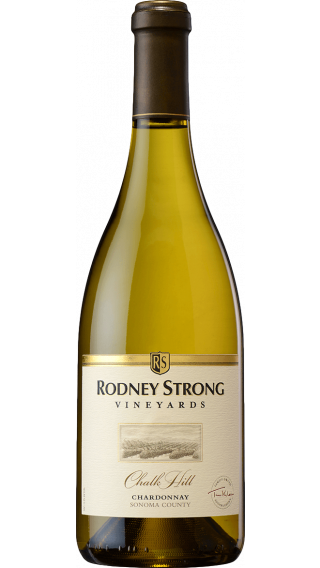 Bottle of Rodney Strong Chalk Hill Chardonnay 2017 wine 750 ml