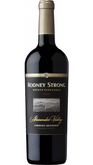 Bottle of Rodney Strong Alexander Valley Estate Cabernet Sauvignon 2015 wine 750 ml