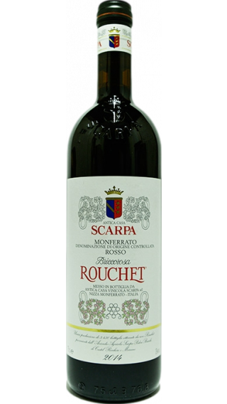 Bottle of Scarpa Briccorosa Rouchet Monferrato Rosso 2011 wine 750 ml