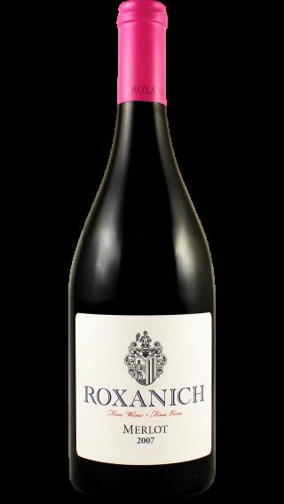 Bottle of Roxanich Merlot 2008 wine 750 ml
