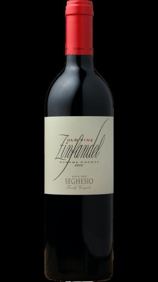 Bottle of Seghesio Old Vine Zinfandel 2012 wine 750 ml