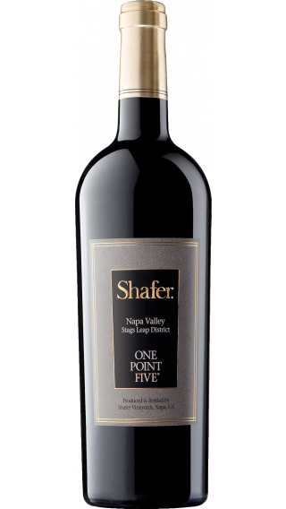 Bottle of Shafer One Point Five Cabernet Sauvignon 2016 wine 750 ml