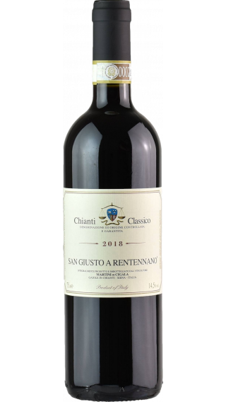 Bottle of San Giusto a Rentennano Chianti Classico 2018 wine 750 ml