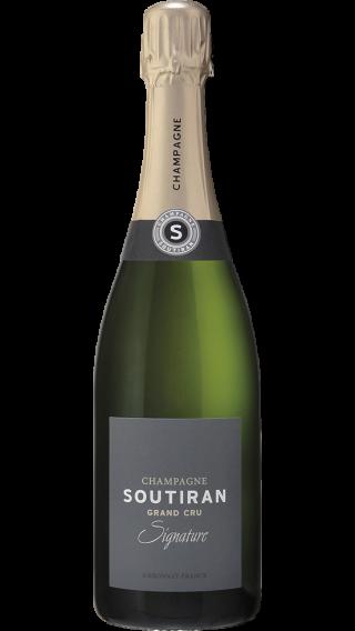 Bottle of Champagne Soutiran Signature Brut Grand Cru wine 750 ml
