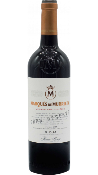 Bottle of Marques de Murrieta Rioja Gran Reserva Limited Edition 2010 wine 750 ml