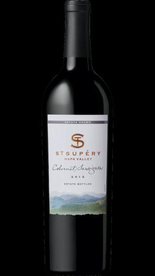 Bottle of St. Supery Cabernet Sauvignon 2015 wine 750 ml