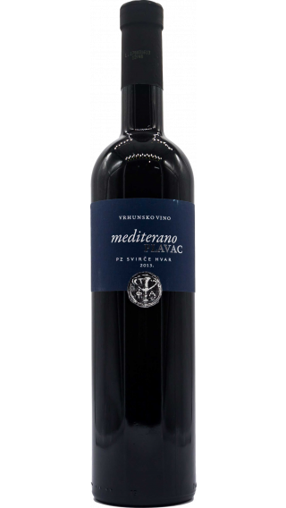 Bottle of Svirce Plavac Mediterano 2014 wine 750 ml