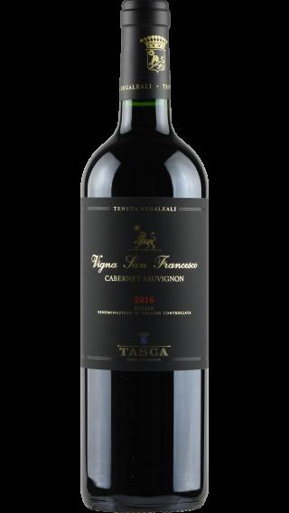 Bottle of Tasca d'Almerita Tenuta Regaleali Cabernet Sauvignon 2016 wine 750 ml