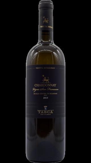 Bottle of Tasca d'Almerita Tenuta Regaleali Chardonnay 2017 wine 750 ml