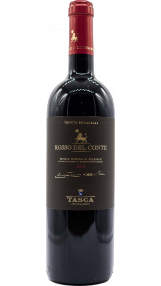 Bottle of Tasca d'Almerita Tenuta Regaleali Rosso Del Conte 2012 wine 750 ml
