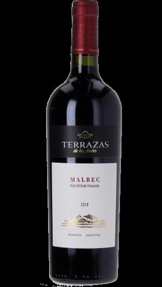 Bottle of Terrazas de los Andes Malbec 2018 wine 750 ml