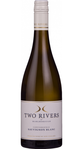Bottle of Two Rivers Convergence Sauvignon Blanc 2018 wine 750 ml