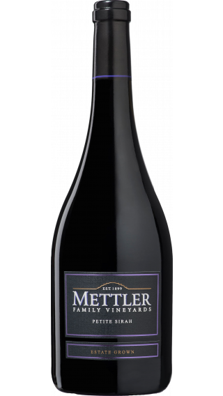 Bottle of Mettler Petite Sirah 2016 wine 750 ml