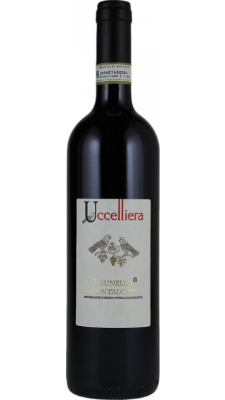 Bottle of Uccelliera Brunello di Montalcino 2015 wine 750 ml