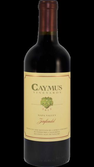 Bottle of Caymus Zinfandel 2013 wine 750 ml